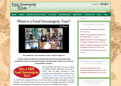 Food Sovereignty Tours