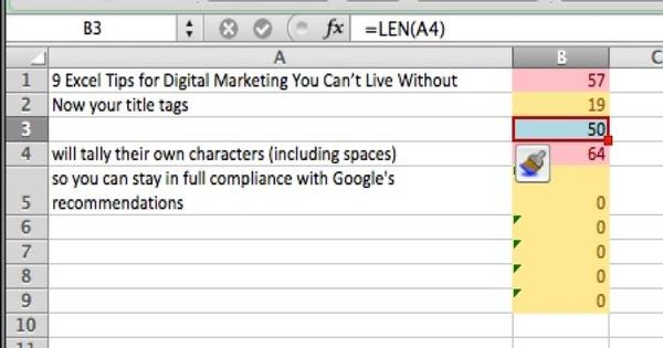 Digital marketing Len formula example 3